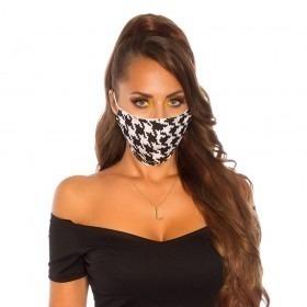 KouCla Houndstooth Print Face Mask