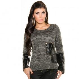 KouCla Knitted High Low Jumper - Black