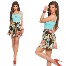 KouCla Summer Mini Dress With Big Bow - Mint