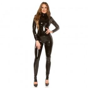 KouCla Latex Look Catsuit - Black