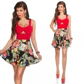 KouCla Summer Mini Dress With Big Bow - Red